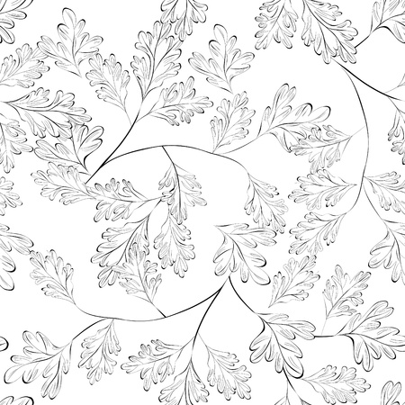 walpaper: Seamless walpaper with leaves