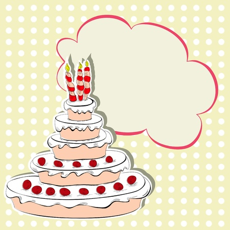 patisserie: Card with cake