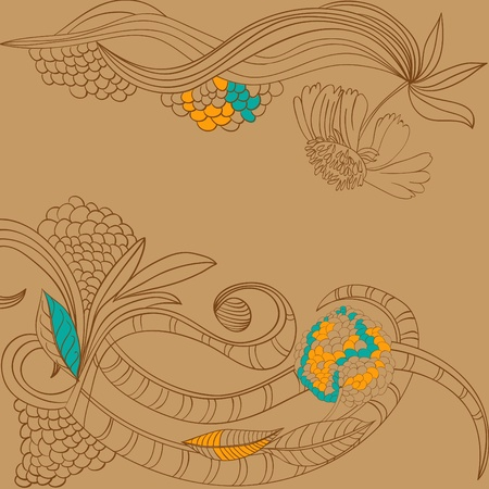 Stylized floral background Vector