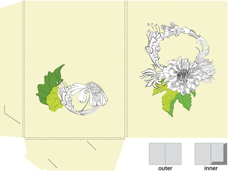 Template for folder with flowers Stock Vector - 11029502