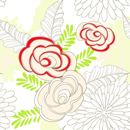 Summer seamless wallpaper Stock Vector - 11029495