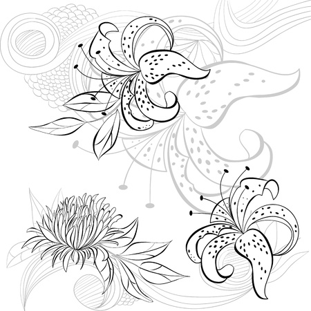 Decorative background with floral element  Vector