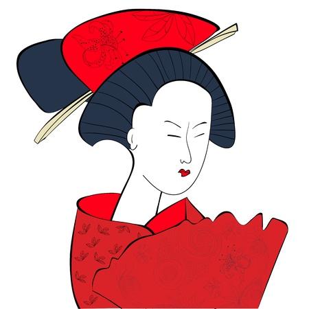 geisha kimono: Young Japanese woman