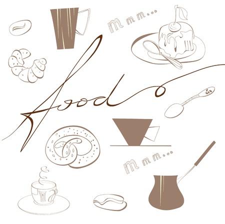 Inscription Food  Stock Vector - 11254275