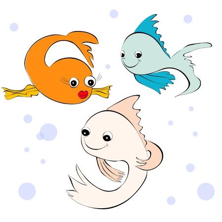toy fish: Fish. Cartoon style illustration Illustration
