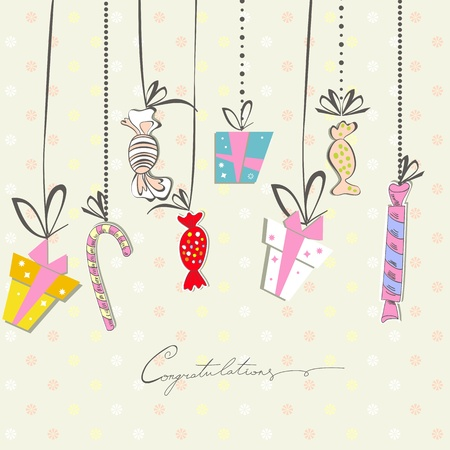 colourful candy: Gift card