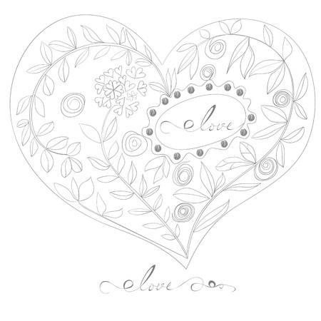 Decorative heart Stock Vector - 11476484
