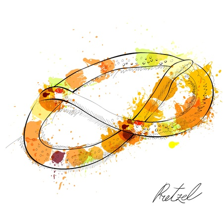 nibble: Pretzel Illustration