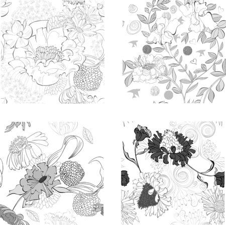 Set of Summer seamless wallpaper Stock Vector - 11765007