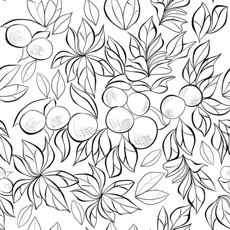 Monochrome seamless wallpaper