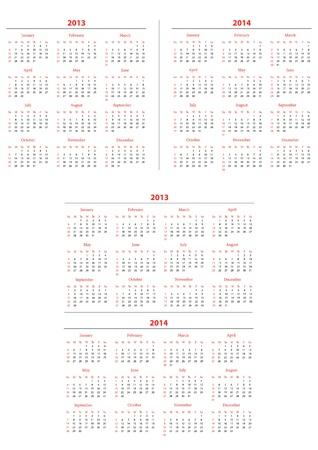schedule appointment: Template foe calendar 2013-2014