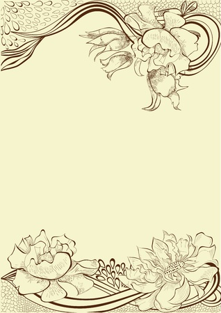 Template for decorative floral card Stock Vector - 12228368