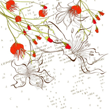 stamen: Decorative floral background