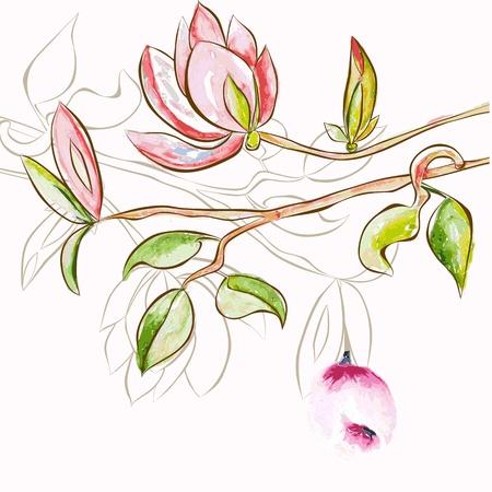 backdrop: Decorative spring flowers