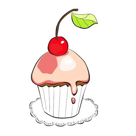 Illustration of cake Vector