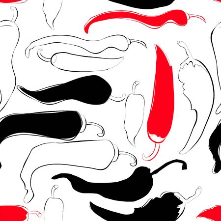 wrapper: Seamless wallpaper with chili pepper