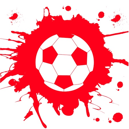 Soccer ball on abstract background Stock Vector - 13220687