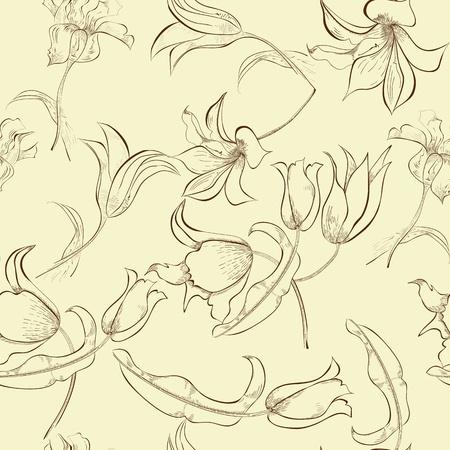Bloemen naadloze patroon