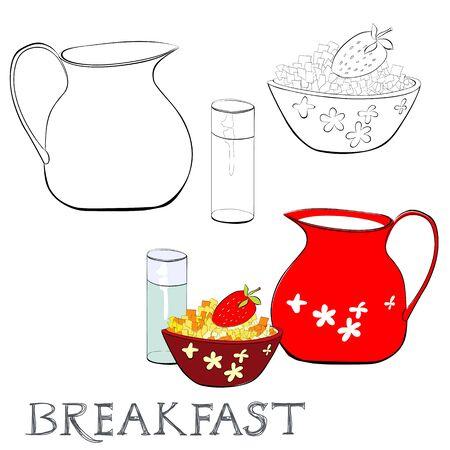 corn flakes: Breakfast with corn flakes