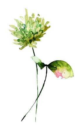 Stilisierten Blumen Aquarellillustration