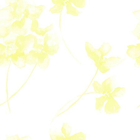 Modello senza cuciture con i fiori gialli, illustrazione dell'acquerello