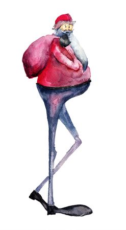 Santa Claus, watercolor illustration