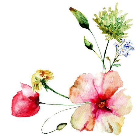 Template for card with spring flowers watercolour illustration template for card with spring flowers watercolour illustration stock photo picture and royalty free image image 77174376 mightylinksfo