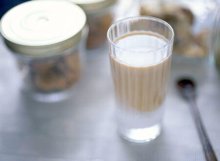 cafe au lait: iced cafe au lait