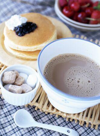 cafe au lait: cafe au lait bowl Stock Photo