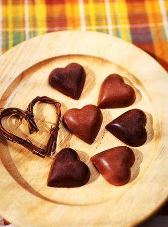 position d amour: coeur chocolat