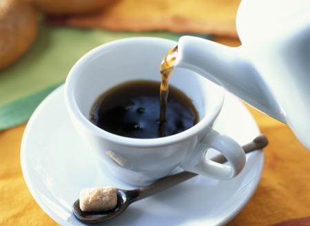 pouring coffee Reklamní fotografie