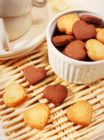 position d amour: biscuits cardiaques Banque d'images