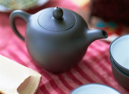 tea set: chinese tea set Stock Photo