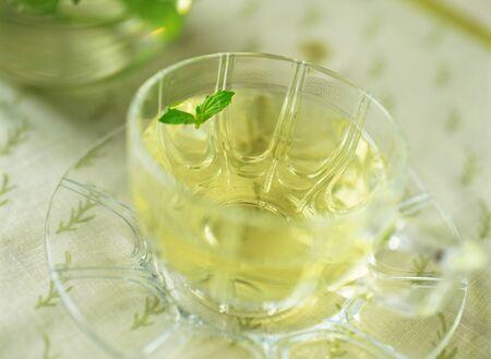 afternoon break: herb tea Stock Photo