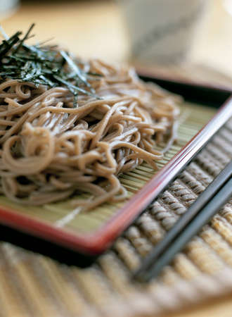 buckwheat noodle: Cold soba noodles with dipping sauce