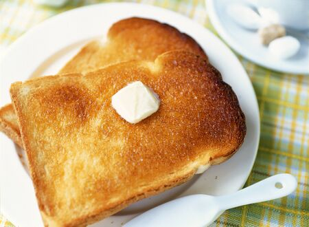buttered: Buttered toast
