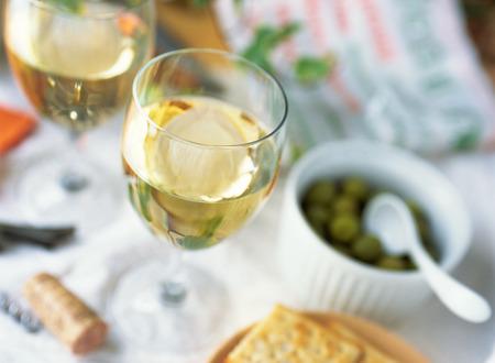 vino bianco  Archivio Fotografico
