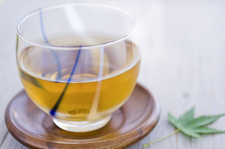 a cup of barley tea Stock Photo