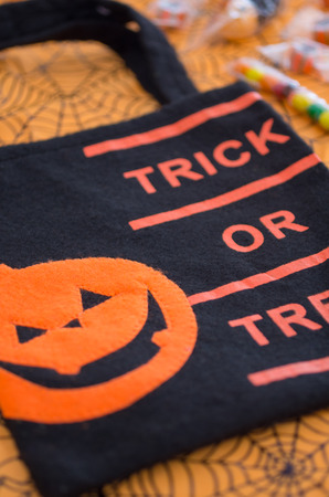 Halloween for trick-or-treat bag