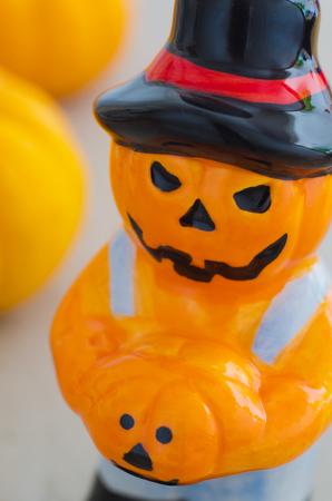 harvests: Scarecrow in the garden-Autumn harvests, Thanksgiving vegetable, Halloween