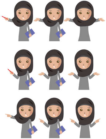 a set of women who have a pattern of hand movements