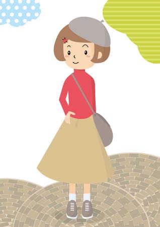 A woman taking a walk