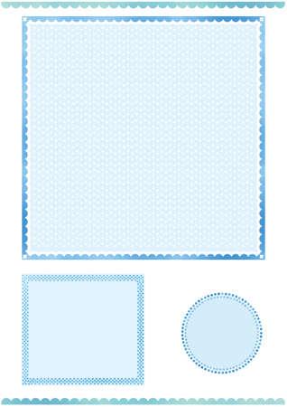 Blue frame set Иллюстрация