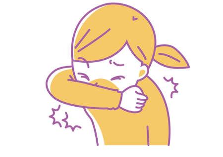 Cough or sneeze with your elbow Ilustração