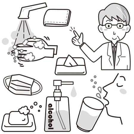 Set zur Vorbeugung von Erkältung und Arzt