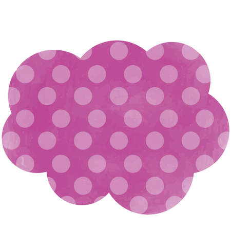 Purple tag with polka dots in the form of clouds 向量圖像