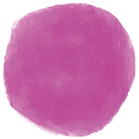 Red purple circle in watercolor style