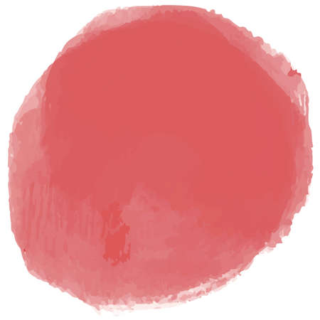 Pink circle in watercolor style 向量圖像