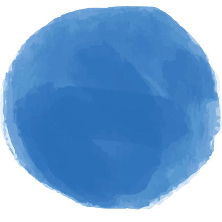 Blue circle in watercolor style