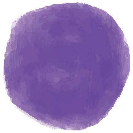 Purple circle in watercolor style